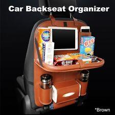 Auto Car Seat Back Multi-Pocket Storage Bag Organizer Holder Accessory brown E