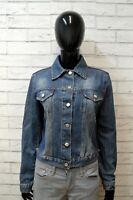 Giubbino RICHMOND Donna Taglia 44 Cotone Jeans Blu Denim Jacket Giubbotto Slim