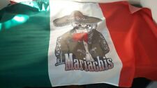 The flag of Mexico with the Mariachi image(La Bandera De México) size 90х135 cm