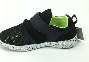 Next Little Kids Lace Up Mash Sneakers Shoes Black NX283 Size US 11