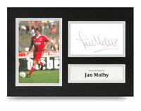 Jan Molby Signed A4 Photo Genuine Liverpool Autograph Display Memorabilia + COA