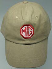 MG MGTC MGTD MGTF MGA MGB MGBGT MIDGET EMBROIDERED HAT KHAKI / BEIGE CAP