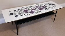 Mid Century Terence Conran Floral Design Formica Top Coffee Table by John Piper