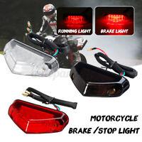 Universale Moto Rosso 12led Moto Faro Fanale Luce Stop Posteriore Targa Luci 12v