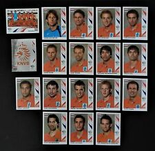 Panini FIFA World Cup Germany 2006 Complete Team Netherlands + Foil Badge