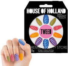 House Of Holland Nails By Elegant Touch -  TWEED  >> NEW