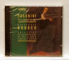 ALEXANDRE DUBACH - PAGANINI violin concertos nos.3 & 6 CLAVES CD STILL SEALED