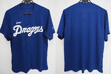 2014 Chunichi Dragons Baseball Jersey Shirt Japanese Kanji Nippon NPB Asics NEW