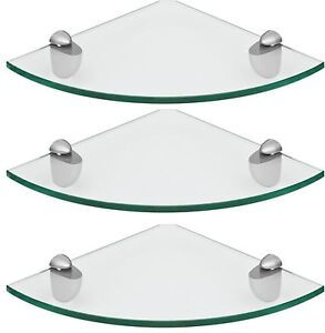 Acrylic Corner Safety Shelf Custom size Shelf Triangle Shape Dolphin Brackets