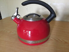 KitchenAid Red 2.0-Quart Tea Kettle With C Handle and Stainless Trim Band