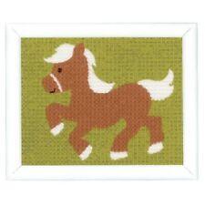 """Vervaco stickpackun kindermotiv impreso con hilo """"marrones Pony"""" kkpn0148056"""
