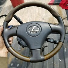 2002 - 2010 Lexus SC430 Steering Wheel Black Brown Wood Trim OEM RARE used