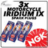 3x NGK Upgrade Iridium IX Spark Plugs for LAVERDA 1000cc RGA, RGS 82->87 #5044