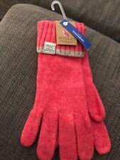 Joules BNWT Ladies Pink Lambswool Gloves