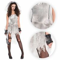 Mujer Drop Dead Hermoso Undead Zombie Novia Disfraz Halloween GB