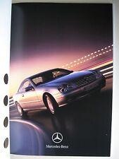 Prospekt Mercedes Coupe C215 CL 500 CL 600 Modelle 1999 deutsch