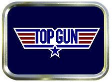 TOP GUN  2oz GOLD TOBACCO TIN,BAIT TIN,SEWING TIN,BACCY TIN