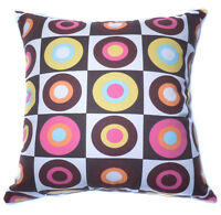 Polka Dot Circle Pure Cotton Canvas Fabric Cushion Cover/Pillow Case CustomSize