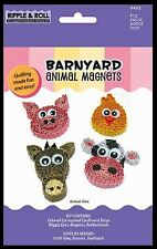 Quilled Creations Corrugated Cardstock Quilling Kit~ BARNYARD Animal Magnets~432