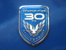 99 Pontiac Firebird 30th Anniversary Limited Edition Trans Am Side Door Badge