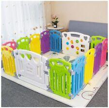 Baby Playpen Kids Activity Center Indoor / Outdoor (Multicolor, 14 Panel)