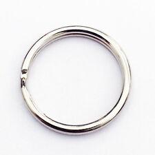 "1000 PCS 25mm 1"" inch Diameter Split Nickel Plated Keyring Keychain Key Rings"