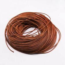 Cow Leather Round Thong Cord DIY Bracelet Rope String for Jewelry Making 2/5M