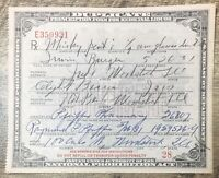 Prohibition Era Prescription for Medicinal Liquor, Whiskey Pint, Illinois 1931