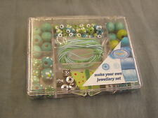 JEWELRY STARTER BEAD KIT, WOOD CORD NEW GREEN