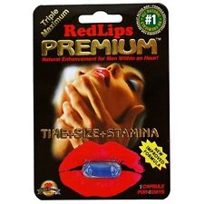 5 Pack, Red Lips Premium, Male Sexual Enhancer New Improved Formula - AUTHENTIC