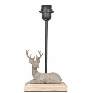 Stag Laying Table Lamp Base - Height 35cm - Clayre & Eef NEW