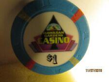 New listing Hawaiian Gardens Casino-Hawaiia 00004000 n Gradens, Ca.- $1 Casino Chip- mint