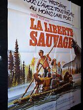 LA LIBERTE SAUVAGE  frederic rossif    affiche cinema  1975