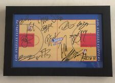 2013-2014 Los Angeles Clippers Team Framed Mini Court with COA of The LAC FDN.
