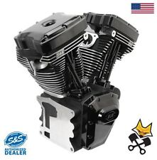 S&S T124 LONG BLOCK BLACK EDITION ENGINE 640 CAMS HARLEY 07-17 TWIN CAM 310-0835
