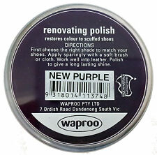 Waproo New Purple Shoe Polish Cream - Renovating Polish - Top Quility !!