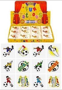 12x Mini Football Temporary Tattoos Boys Girls Party Bag & Stocking Fillers