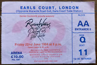 Roger Waters Earls Court, London June 22nd 1984 Concert Ticket Stub