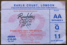 Roger Waters Earls Court, London June 22nd 1984 Concert Ticket Stub