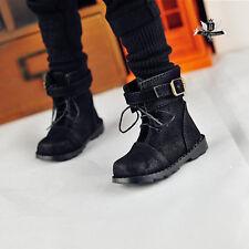 1/4 BJD Shoes MSD Dollfie DREAM Black Nubuck leather Boots MID DOD AOD Dollmore
