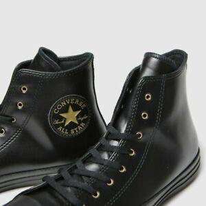 Converse black & gold hi craft trainers UK Size 3 MAN MADE Chuck Taylor Rare!