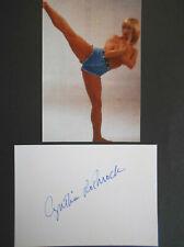 CYNTHIA ROTHROCK original signiert – BRIEFKARTE und FOTO