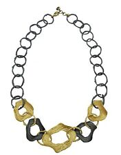 """Curly Pod 16"""" Adj. Link Necklace by Michael Michaud #8971GMG"""