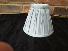 "Duck egg blue 5"" Clip on  fabric lampshade for Light Fitting   chandelier"