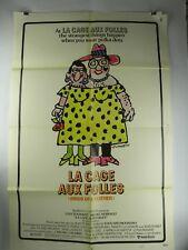 """1979 LA CAGE AUX FOLLES Original Movie Poster 27"""" x 41""""  Tognazzi Serrault"""