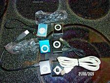 "Set Of 6 "" Apple Ipod Shuffle 2Nd Gen.Mp3 Players 4 Black,1 Teal,1 Light Blue """
