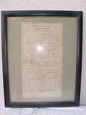 Original Authentic electube Data Sheet From Tube 300B Western Electric