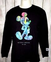 MENS NEFF DISNEY COLLECTION MICKEY MOUSE BLACK LONG SLEEVE T-SHIRT SIZE M