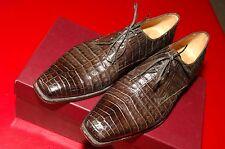 Lidfort Men's Crocodile Lace-Up Shoes, Chocolate Brown, EU 9, US 10, Mint