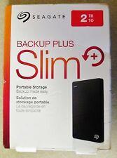SEAGATE 2TB Backup Plus Slim Portable External USB 3.0 Hard Drive COLOR - BLACK